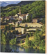 Town Of Sisteron In Provence Wood Print