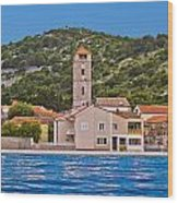 Town Of Tisno Waterfront Croatia Wood Print