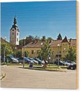 Town Of Vrbovec In Croatia Wood Print