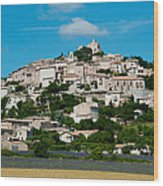 Town On A Hill, D51, Sault, Vaucluse Wood Print