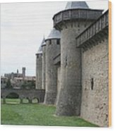 Town Wall - Carcassonne Wood Print