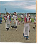 Townsfolk On Main Street In Louisbourg Living History Museum-174 Wood Print