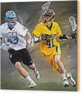 College Lacrosse 7 Wood Print