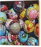 Toy Balls Wood Print