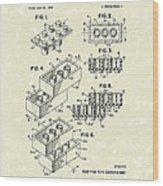 Toy Building Brick 1961 Patent Art Wood Print