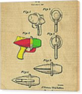 Toy Ray Gun Patent II Wood Print