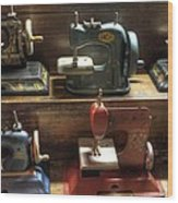 Toy Sewing Machines Wood Print
