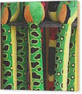 Toy Snakes Wood Print