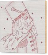 Toy Soldier Nutcracker In Red Wood Print