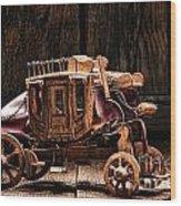Toy Stagecoach Wood Print