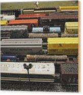 Toy Trains Wood Print