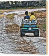 Toy Truck Riders Wood Print