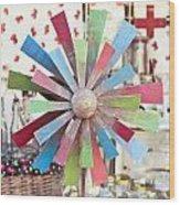 Toy Windmill Wood Print