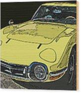 Toyota 2000 Gt Wood Print by Samuel Sheats