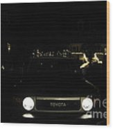 Toyota Fj Holiday Lights Wood Print