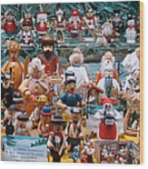 Toys And Nutcrackers For Sale Wood Print by Ronda Broatch