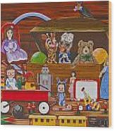 Toys In The Attic Wood Print