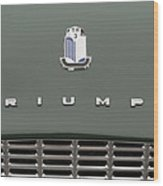 Tr3 Hood Ornament And Grill Wood Print