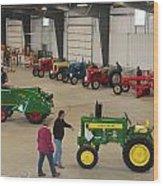 Mecum Tractor Auction Wood Print