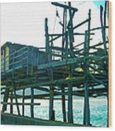 Trabocco 3 - Fishermen Stuff Wood Print