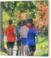 Track Practice Wood Print by Susan Savad