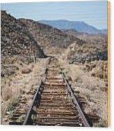 Tracks To Nowhere Wood Print