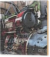 Traction Engine 2 Wood Print