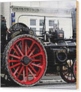 Traction Engine  Wood Print