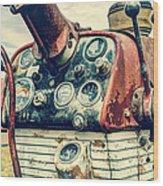 Tractor Dash - Farmall 560 Diesel Wood Print
