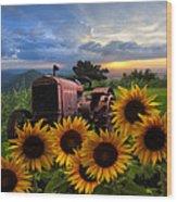 Tractor Heaven Wood Print