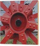 Tractor Hub Wood Print