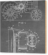Tractor Patent Wood Print