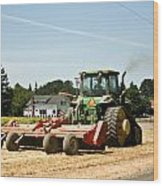 Tractor Power Wood Print