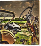 Tractor Seat Wood Print
