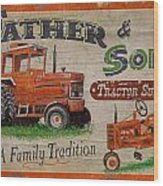Tractor Supplies Wood Print by JQ Licensing