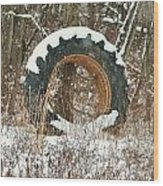 Tractor Tire Wood Print