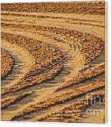 Tractor Tracks Wood Print