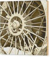 Tractor Wheel Wood Print
