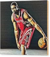 Tracy Mcgrady Portrait Wood Print