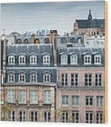 Traditional Buildings In Paris Wood Print