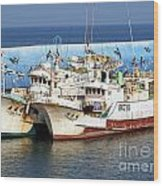 Traditional Chinese Fishing Boats Wood Print