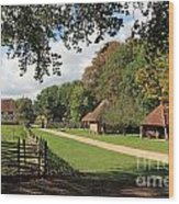 Traditional Countryside Britain Wood Print