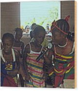 Traditional Dance And Singing Wood Print