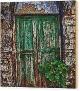 Traditional Door Wood Print by Emmanouil Klimis