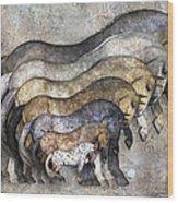 Traditional Horses Wood Print