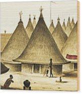 Traditional Native Village Circa 1840 Wood Print