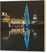 Trafalgar Christmas Tree Wood Print