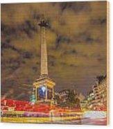 Trafalgar Light Trails Wood Print