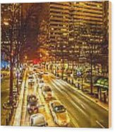 Traffic In A Big City Wood Print