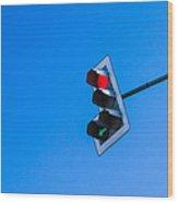 Traffic Light - Featured 3 Wood Print
